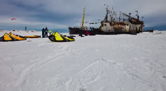 Видеосъёмка ролика о закрытии зимнего сезона сноукайтинга в п.Коккорево